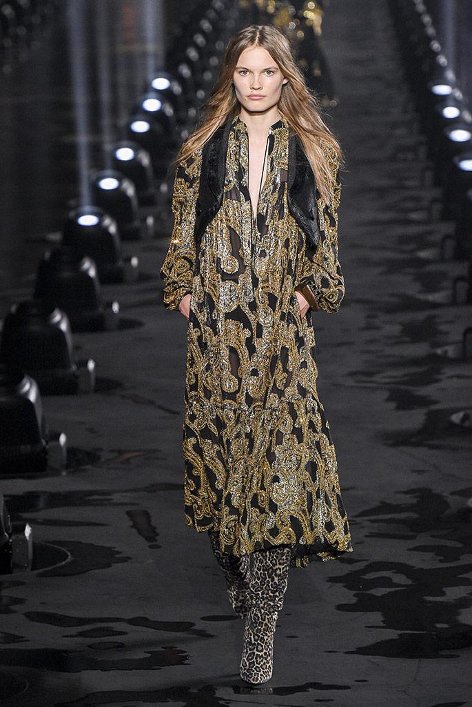 Saint Laurent, spring '20, Paris Fashion Week.
