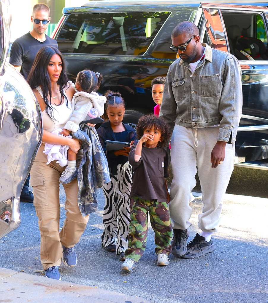 Kim Kardashian, kanye west, north west, saint west, Chicago west, nyc, yeezy sneakers, celebrity style, street style, and Kanye West Step out in NYC after Church as they Prepare for his New Album Release. They brought their kids along, as well as pal FoodGod and Simon HuckPictured: Kim Kardashian,Kanye West,Jonathan ChebanRef: SPL5119210 290919 NON-EXCLUSIVEPicture by: DIGGZY / SplashNews.comSplash News and PicturesLos Angeles: 310-821-2666New York: 212-619-2666London: +44 (0)20 7644 7656Berlin: +49 175 3764 166photodesk@splashnews.comWorld Rights, No Portugal Rights