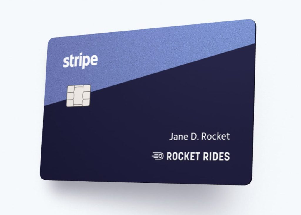 Stripe sample corporate card for internet businesses