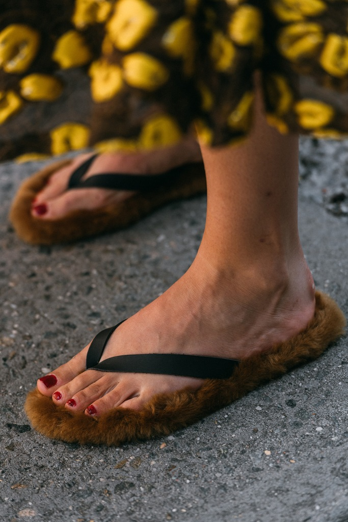 Tibi, flip flops, nyfw, street style, spring 2020, nyc