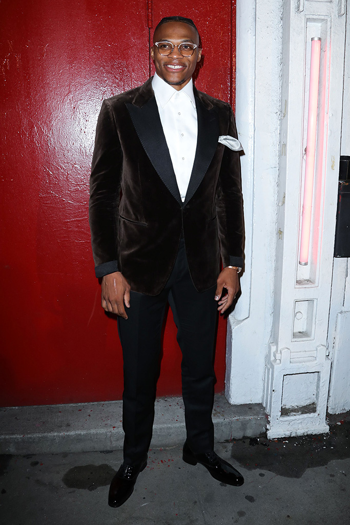 Russell WestbrookTom Ford show, Arrivals, Spring Summer 2020, New York Fashion Week, USA - 09 Sep 2019