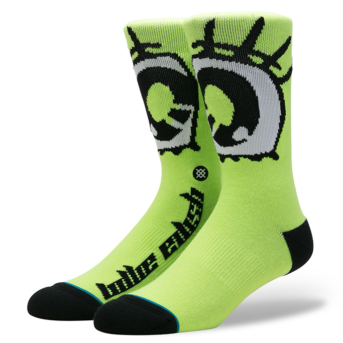 Billie Eilish Socks, green, neon, eyes, stance