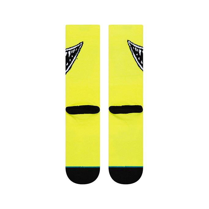 Billie Eilish Socks, yellow, neon, eyes, stance