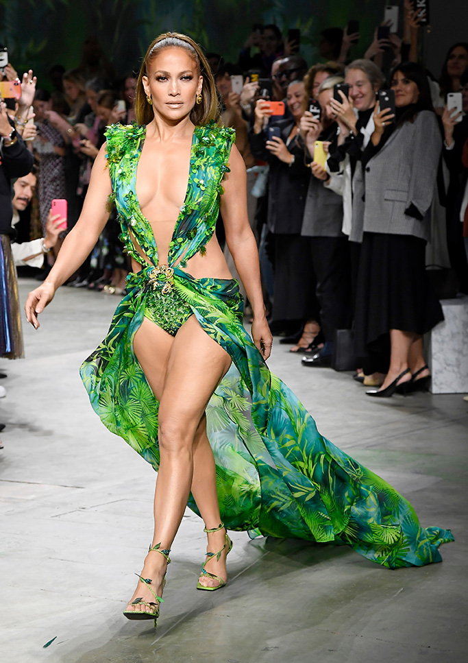 Jennifer Lopez Versace on the catwalkVersace show, Runway, Spring Summer 2020, Milan Fashion Week, Italy - 20 Sep 2019