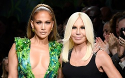 Jennifer Lopez and Donatella Versace on