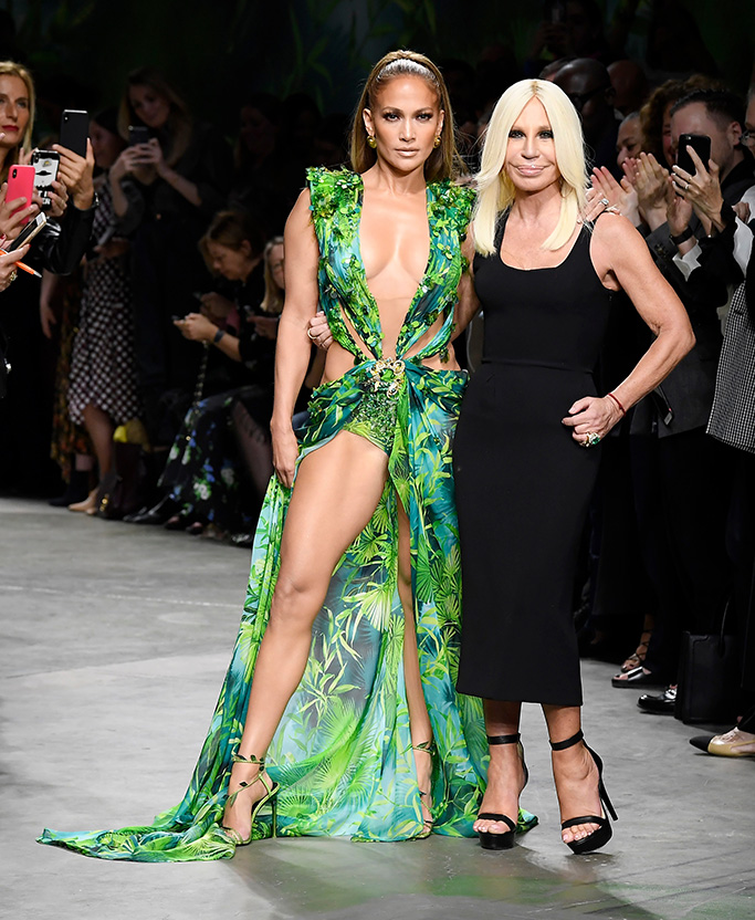 Jennifer Lopez and Donatella Versace on the catwalkVersace show, Runway, Spring Summer 2020, Milan Fashion Week, Italy - 20 Sep 2019