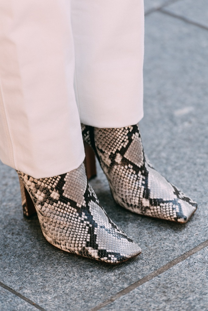 Vetements, square toes, snakeskin, street style, lfw, London fashion week, shoe style