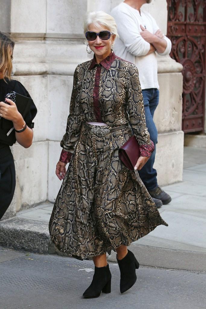 Helen MirrenVictoria Beckham show, Arrivals, Spring Summer 2020, London Fashion Week, UK - 15 Sep 2019