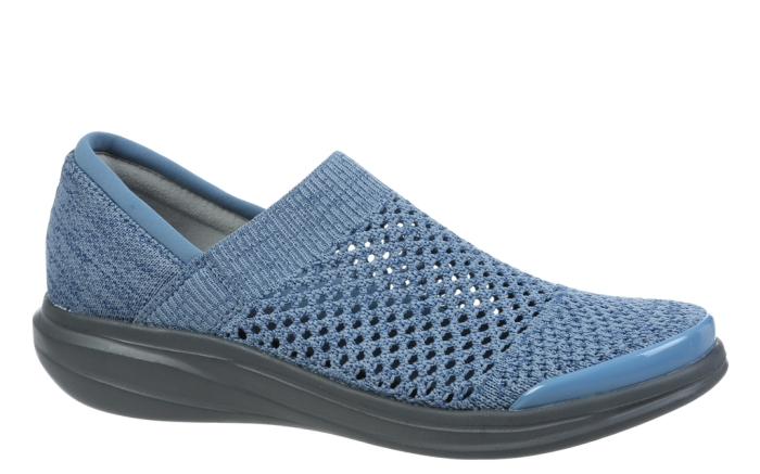 Bzees, spring 2020, athleisure shoes, blue mesh, perforations