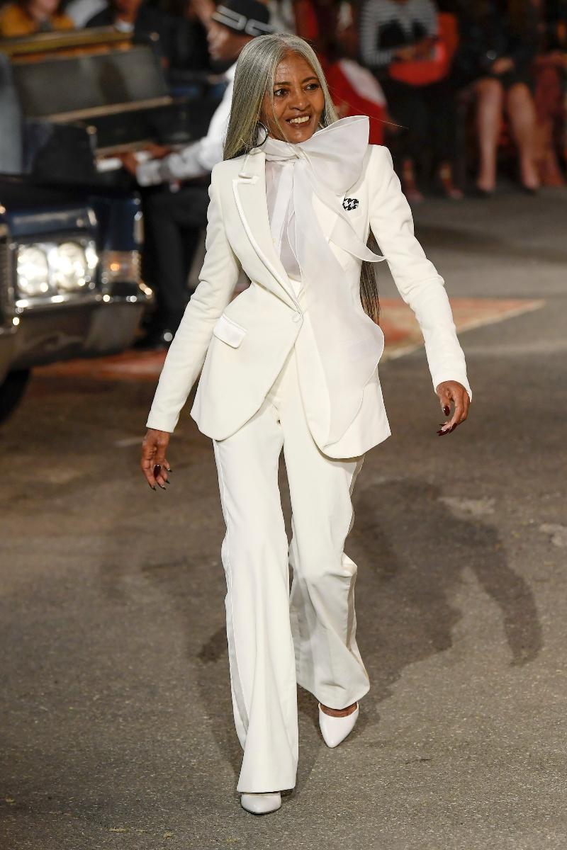 tommy hilfiger, zendaya, tommy x zendaya, fall 19, harlem, white suit