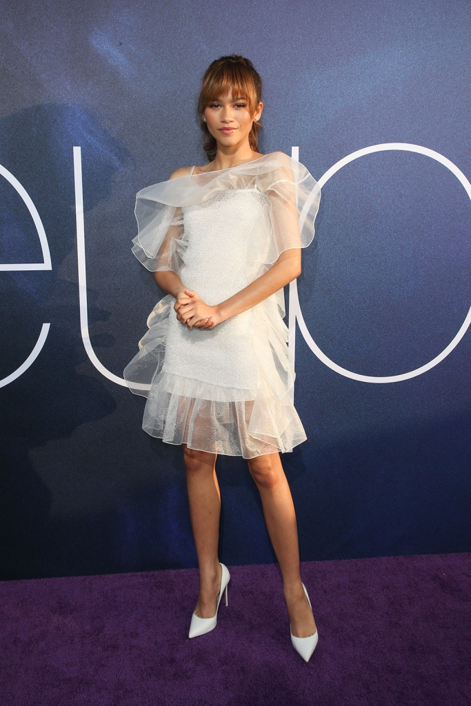 Zendaya'Euphoria' TV Show Premiere, Arrivals, Pacific Cinerama Dome, Los Angeles, USA - 04 Jun 2019Wearing Nina Ricci, Shoes by Le Silla same outfit as catwalk model *10123880n