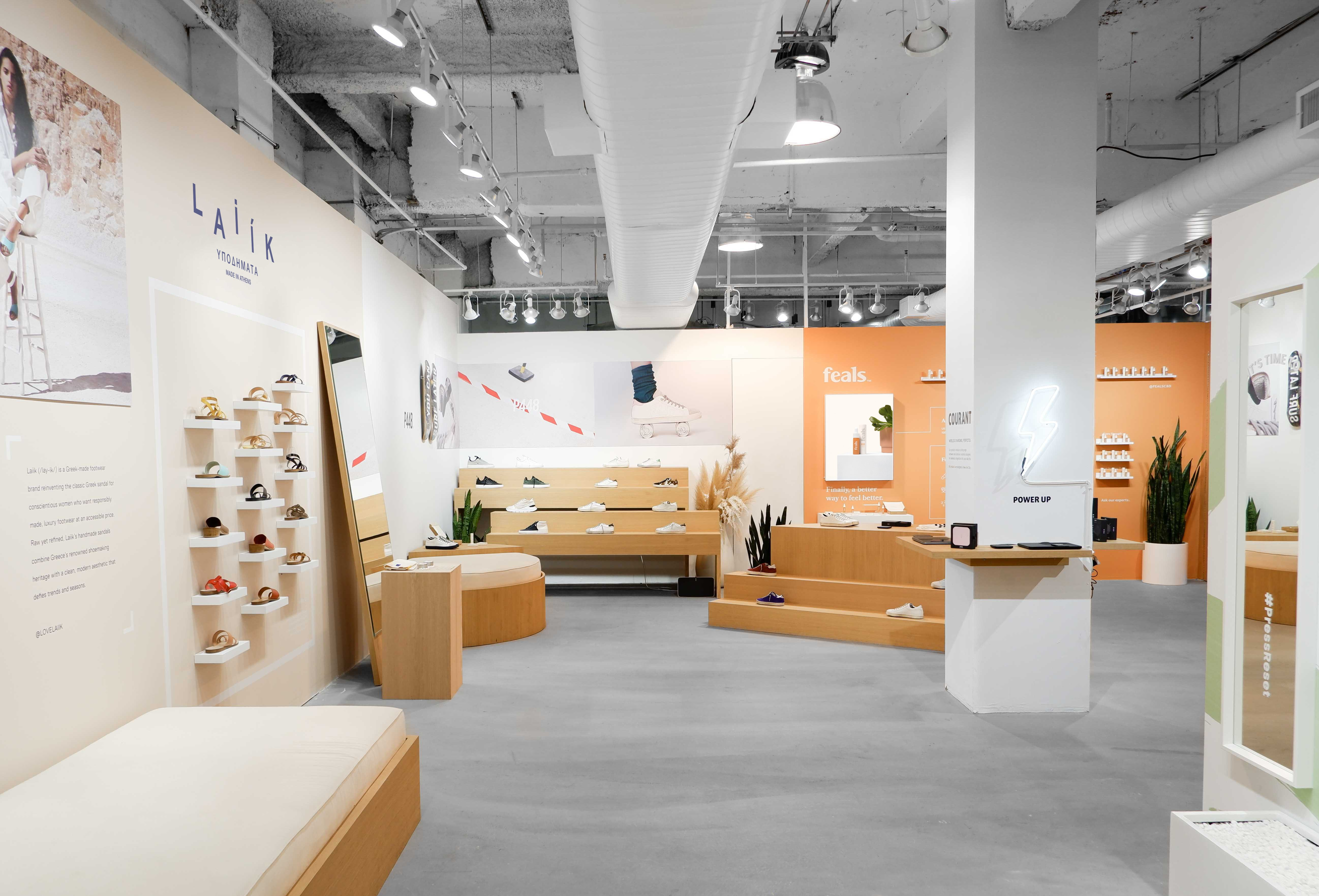 By creating two spaces within the flagship, each with a distinctive aesthetic, Naked Retail can widen its appeal to brands within a single location.