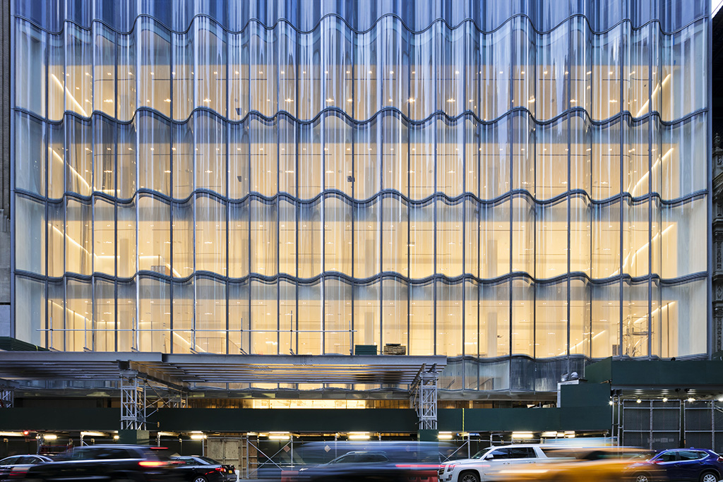 Nordstrom NYC, flagship, glass exterior,