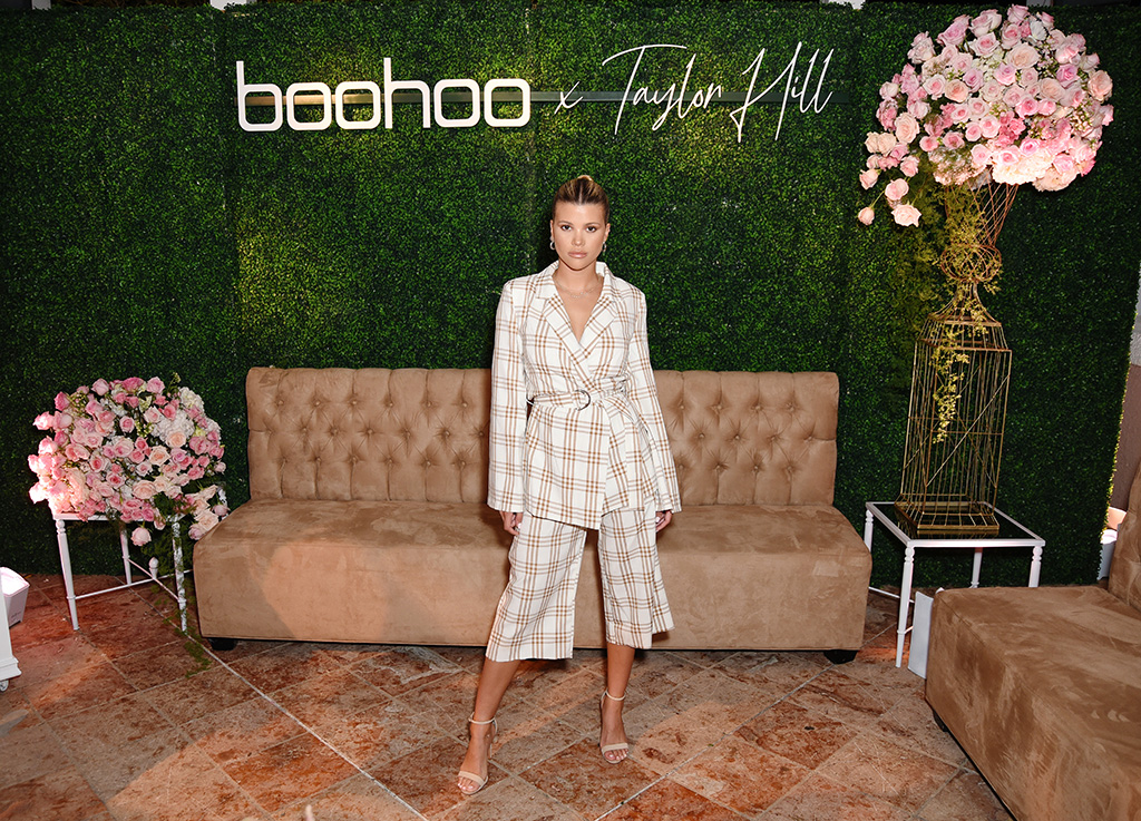 taylor hill x boohoo, boohoo fall 2019, MALIBU, CALIFORNIA - OCTOBER 13: Sofia Richie attends boohoo x Taylor Hill Tea Party at The Beverly Hills Hotel on October 13, 2019 in Beverly Hills, California. (Photo by Presley Ann/Getty Images for boohoo.com)
