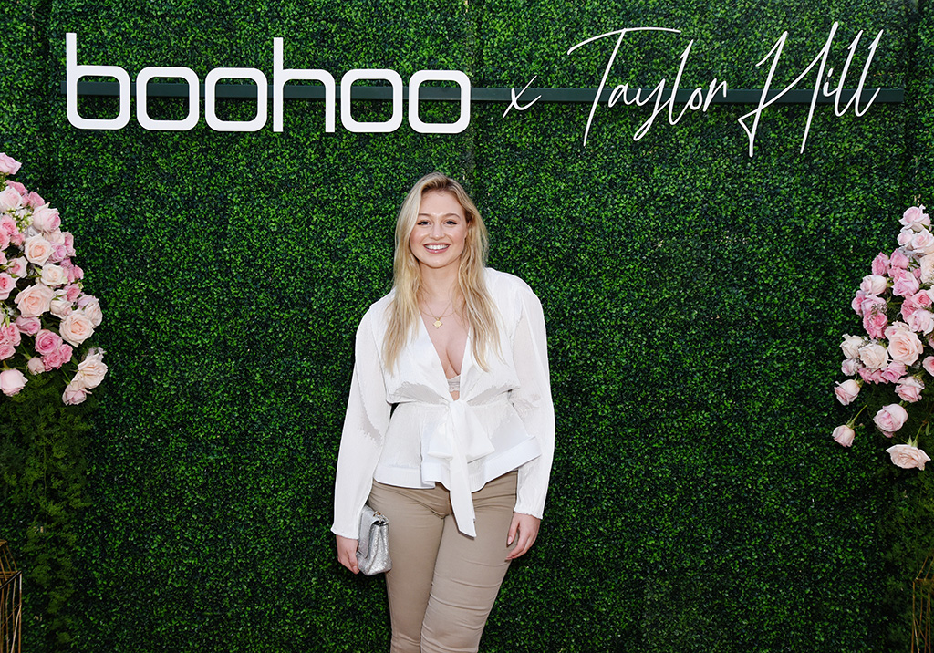 taylor hill x boohoo, boohoo fall 2019, MALIBU, CALIFORNIA - OCTOBER 13: Iskra Lawrence attends boohoo x Taylor Hill Tea Party at The Beverly Hills Hotel on October 13, 2019 in Beverly Hills, California. (Photo by Presley Ann/Getty Images for boohoo.com)