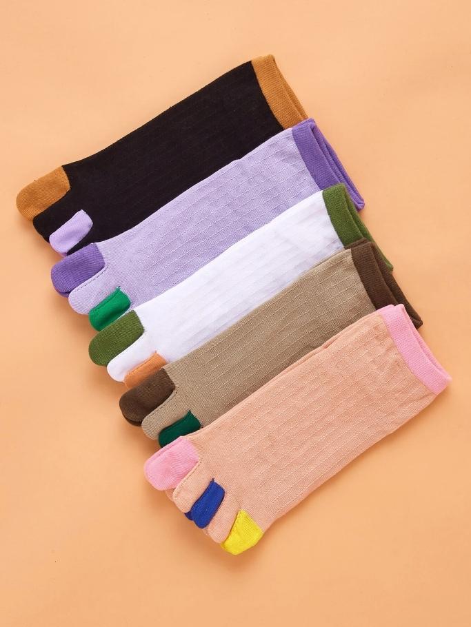 Shein Colorful Toe Socks, tos socks