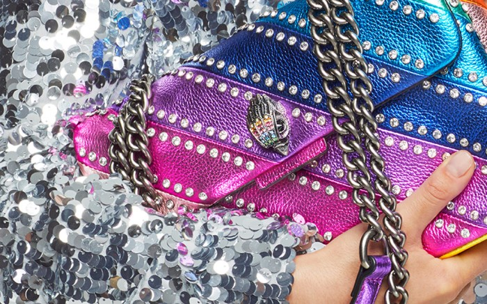 Kurt Geiger's new Rainbow Kensington bag.