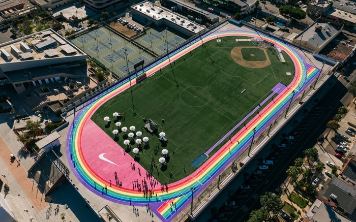 Los Angeles City College, lacc, rainbow track, lgbtq, nike