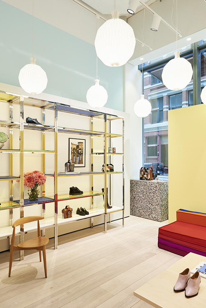 Inside Ganni's new store in New York.