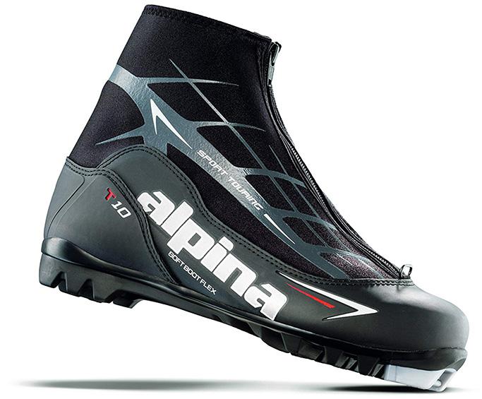 alpina ski nordic cross country boots, black, skiing