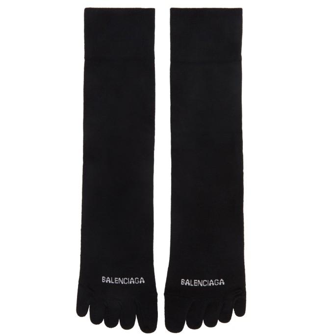 toe socks, Balenciaga Logo Toe Socks