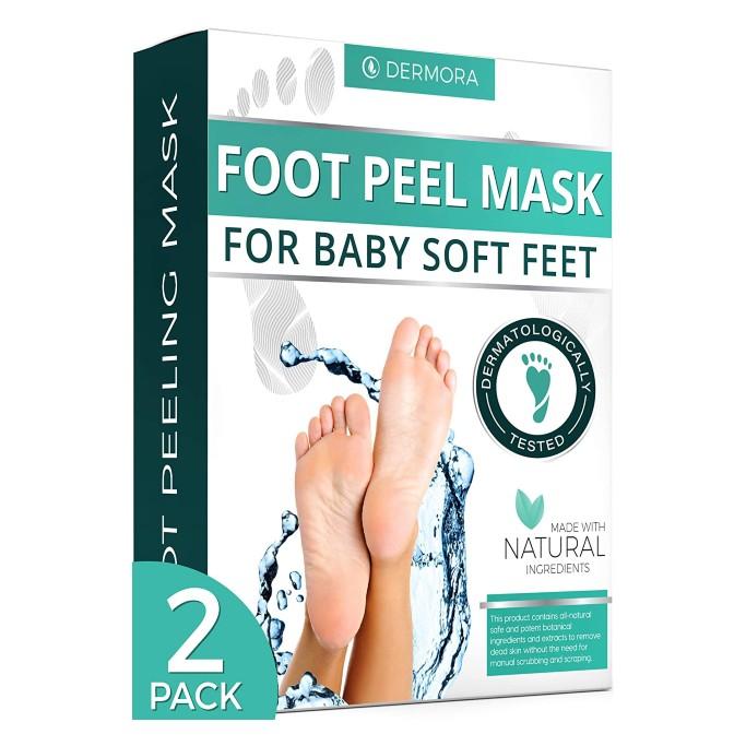 dermora foot mask, foot exfoliator