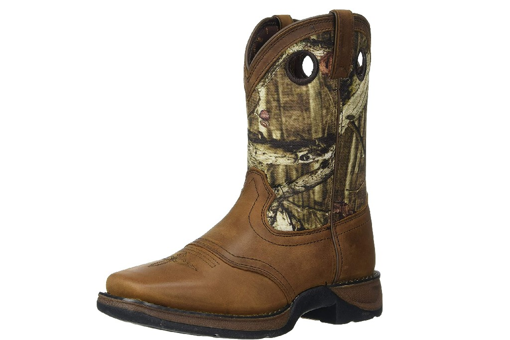 Lil' Durango Youth Camo Saddle Western Boots, kids western boots