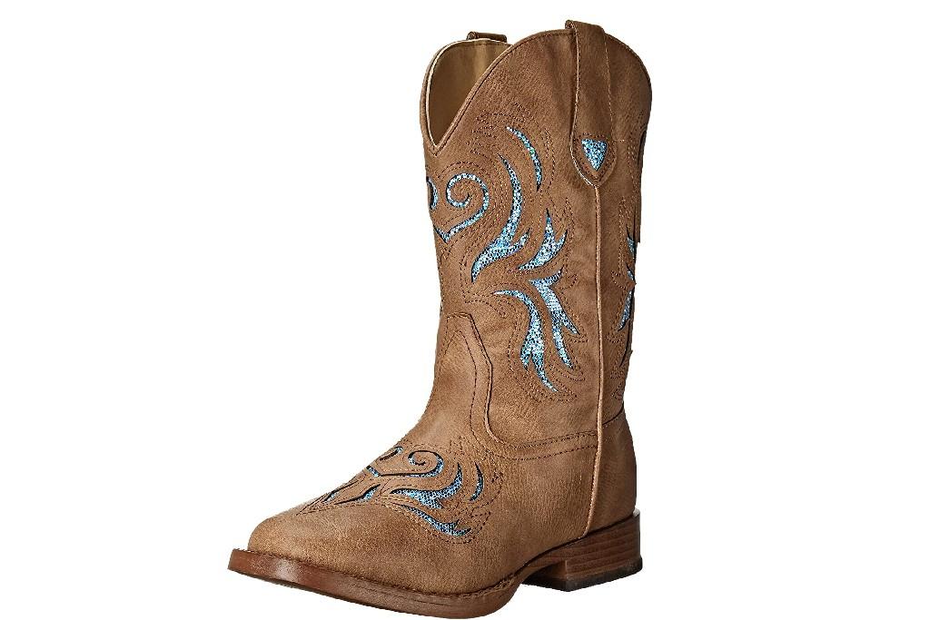 kids western boots, ROPER Unisex-Child Glitter Breeze Western Boot