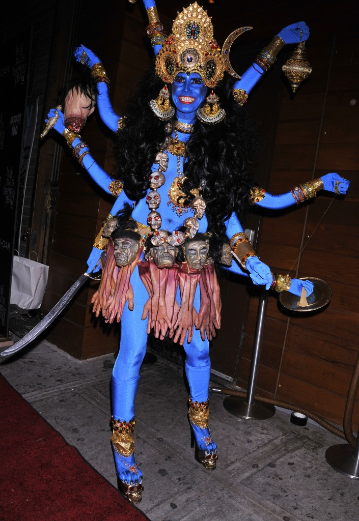 Heidi Klum, Heidi Klum's Halloween Party, Halloween, costumes, Hinduism, Kali