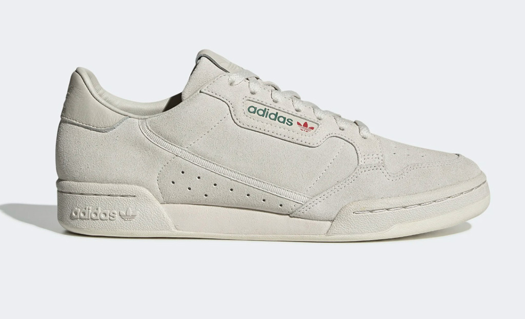 adidas continental 80 shoes, white sneakers
