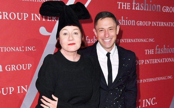 Nell Campbell and Jonathan AdlerFashion Group International's Night of Stars Gala, Arrivals, Cipriani Wall Street, New York, USA - 24 Oct 2019