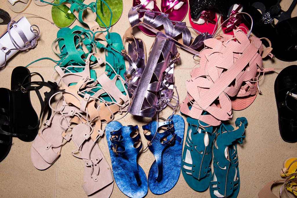 Ancient Greek Sandals x Mary Katrantzou, spring '20, Greece.