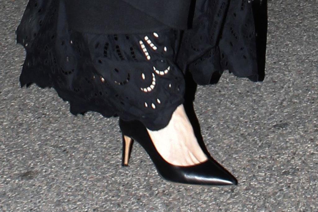 Angelina Jolie, classic black pumps, stilettos, pointy toe pumps, celebrity style, paris, france