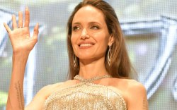 Angelina Jolie, celebrity style, maleficent, red