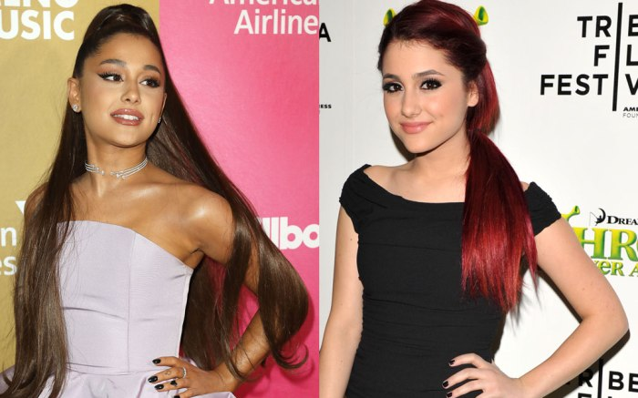Ariana Grande, celebrity style, transformation, old, young