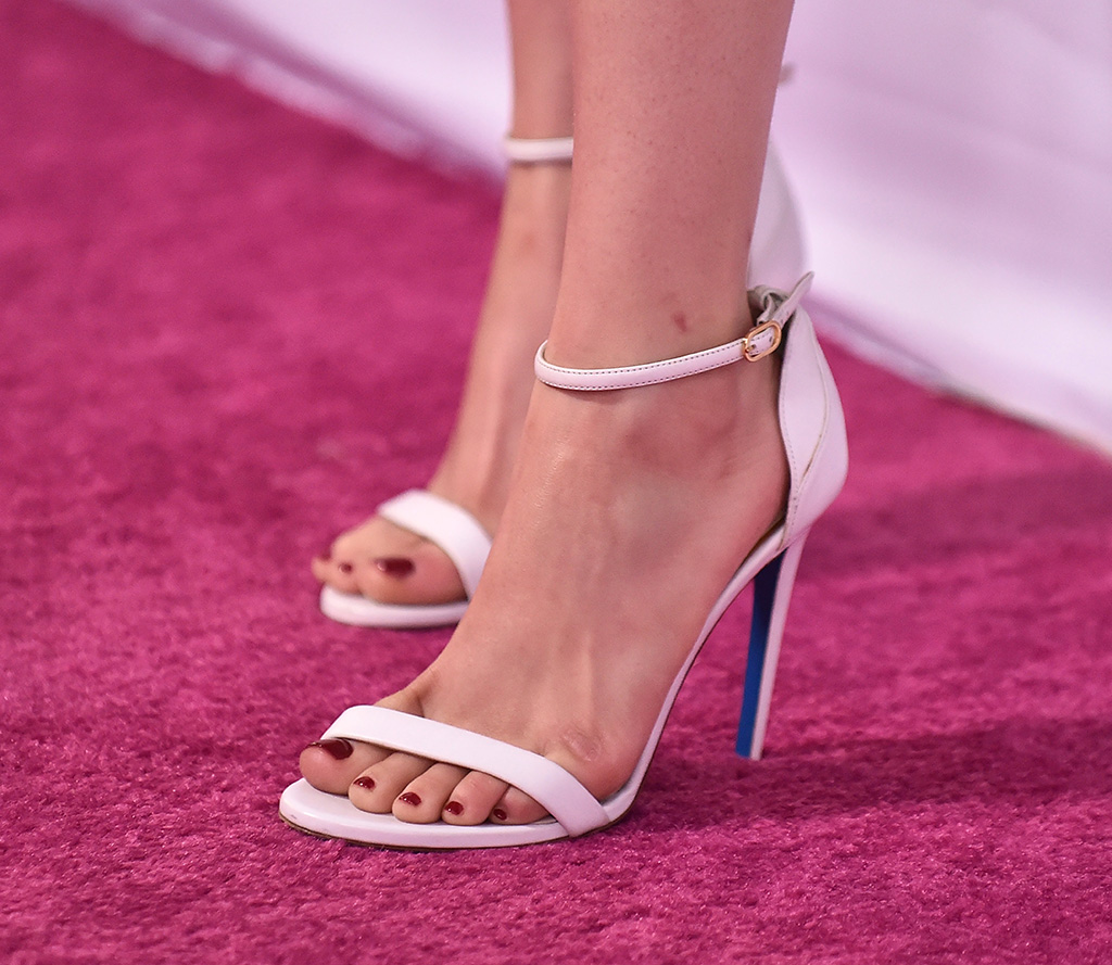 Ariel Winter, sandals, stilettos, pedicure, toes, shoe detail2nd Annual Girl Up GirlHero Awards, Arrivals, Beverly Wilshire, Los Angeles, USA - 13 Oct 2019