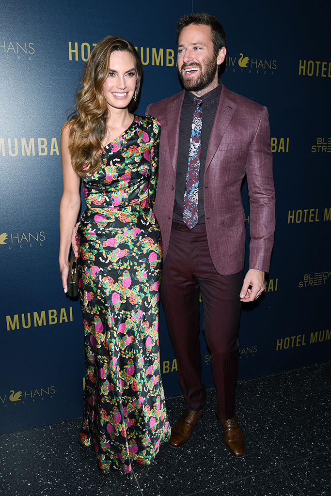 Armie Hammer and Elizabeth ChambersBleecker Street and ShivHans Pictures host a special screening of 'Hotel Mumbai', Arrivals, New York, USA - 17 Mar 2019