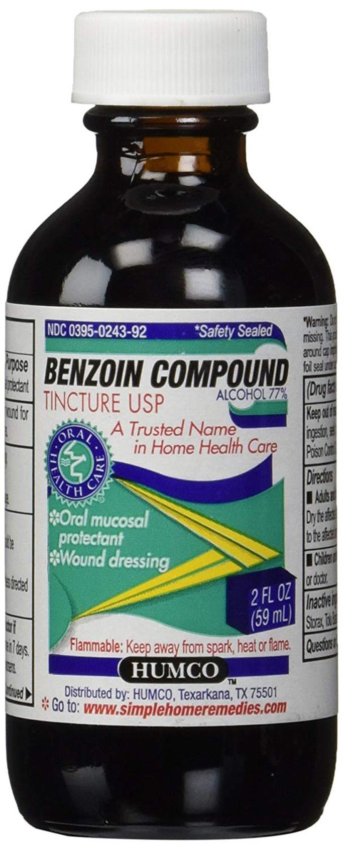 benzoin compound, canker sore