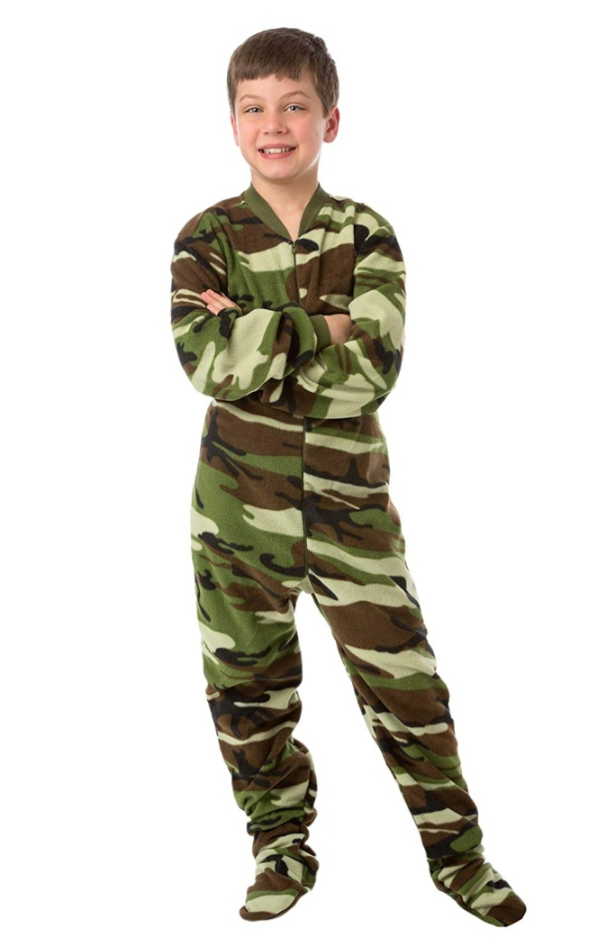 big feet camo footie pajamas
