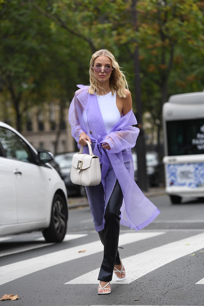 Leonie Hanne, Street Style, Spring Summer 2020, Paris Fashion Week, Bottega Veneta Shoes