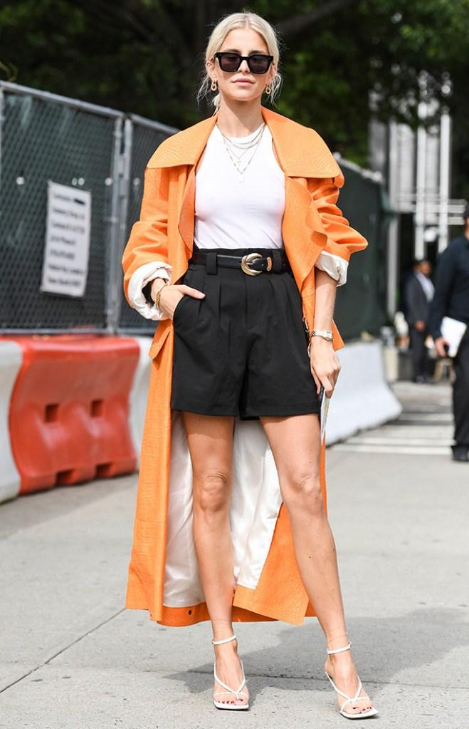 Caroline Daur, Street Style, Spring Summer 2020, New York Fashion Week, Bottega Veneta shoes