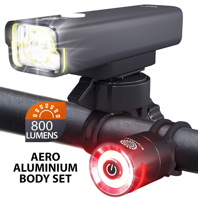 BrightRoad Rechargeable 800 Lumens Bike Light
