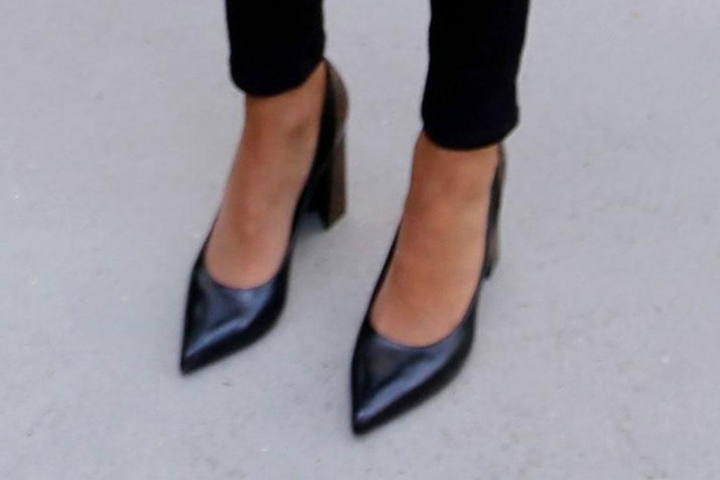 Brigitte Macron, celebrity style, shoe style, pointy toe pumps, block heeled pumps, Paris, France, First Lady