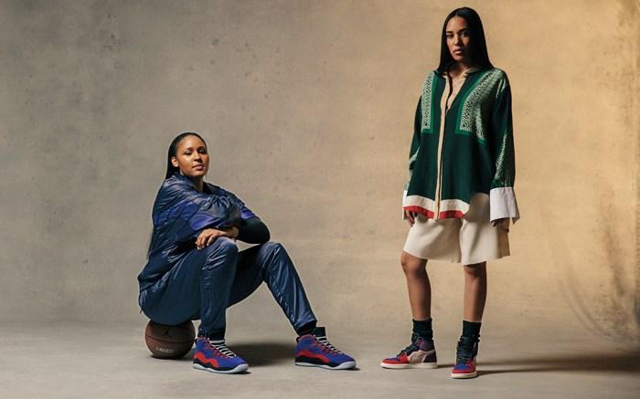 Basketball star Maya Moore and stylist Aleali May