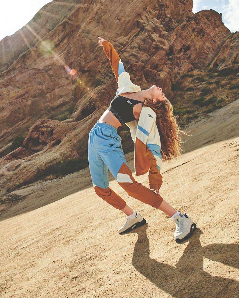 Gigi Hadid x Reebok, gigi hadid, reebok, fall, collection, sports bra, tracksuit, sneakers,