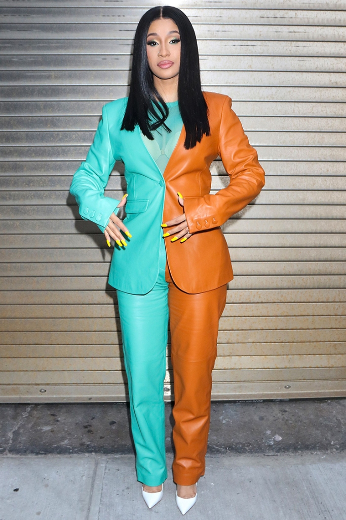 Cardi BCardi B out and about, New York, USA - 10 Oct 2019 Wearing Sally LaPointe same outfit as catwalk model *10406101ad