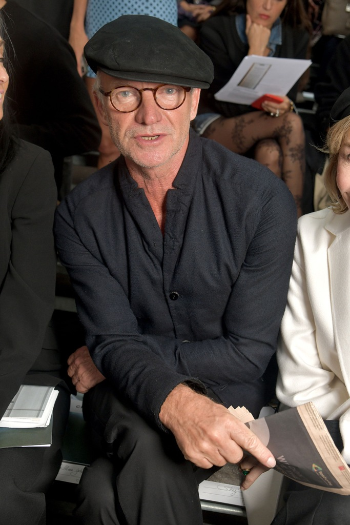 Sting in the front rowChanel show, Front Row, Spring Summer 2020, Paris Fashion Week, France - 01 Oct 2019