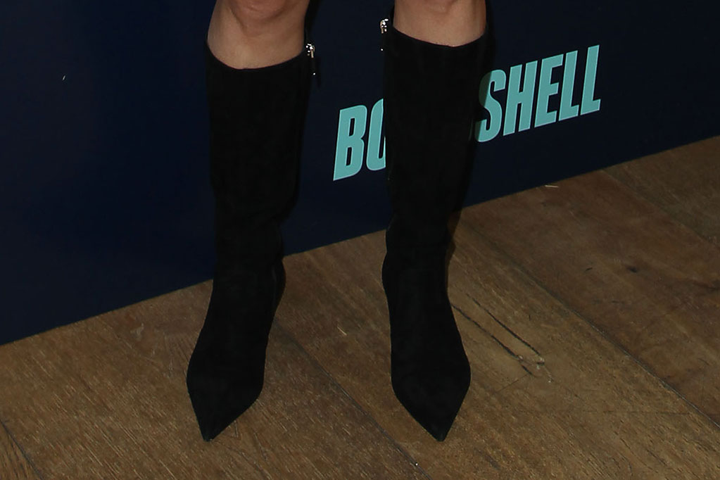 Charlize Theron, celebrity style, legs, boots, mid-calf boots, red carpet, nyc