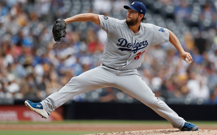 skechers cleats, Los Angeles Dodgers starting pitcher Clayton Kershaw works against a San Diego Padres batter during the second inning of a baseball game, in San DiegoDodgers Padres Baseball, San Diego, USA - 26 Sep 2019