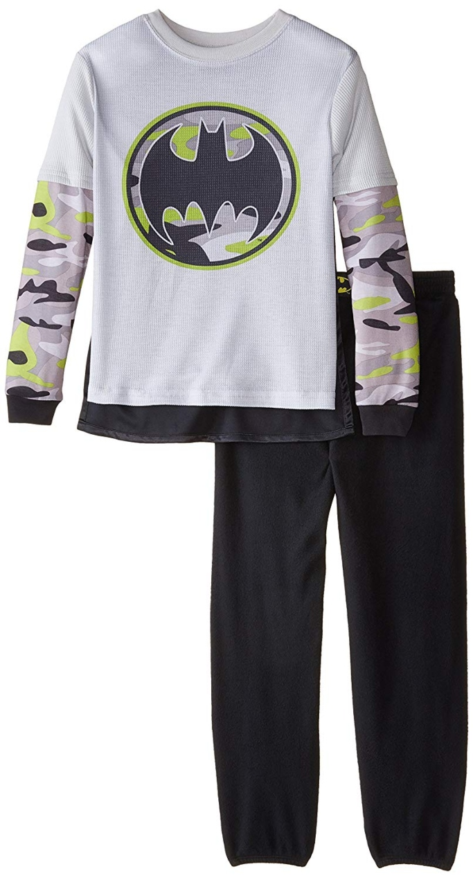 dc comics little boys 2 piece pajama set